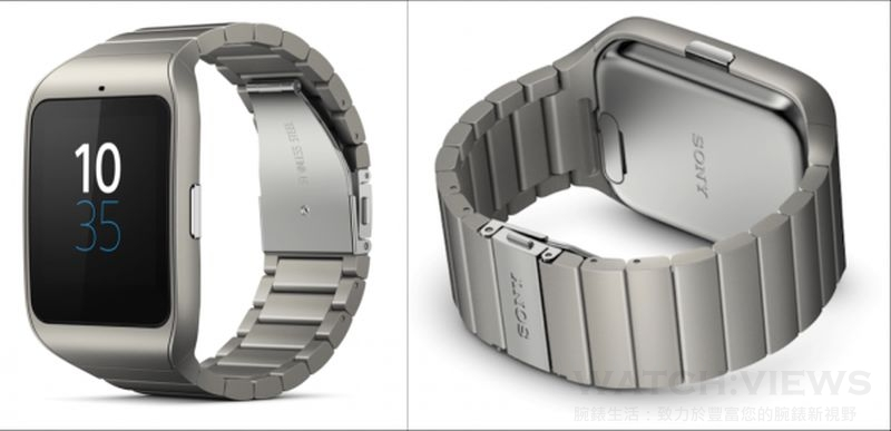 Sony SmartWatch 3金屬錶帶開賣 具聲控、內建GPS功能