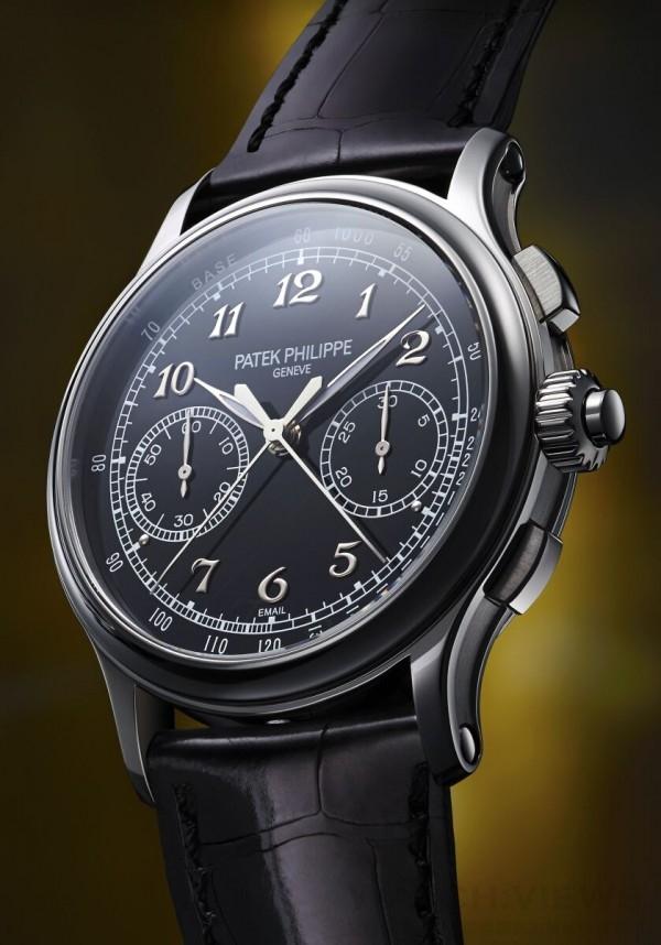 編號5370腕錶採用雙按鈕設計,令百達翡麗純雙針計秒計時秒錶款式更添豐富。腕錶透過兩枚按鈕執行啟動、停止及重設計時秒功能,另於錶冠加設雙針計秒功能開關按鈕。