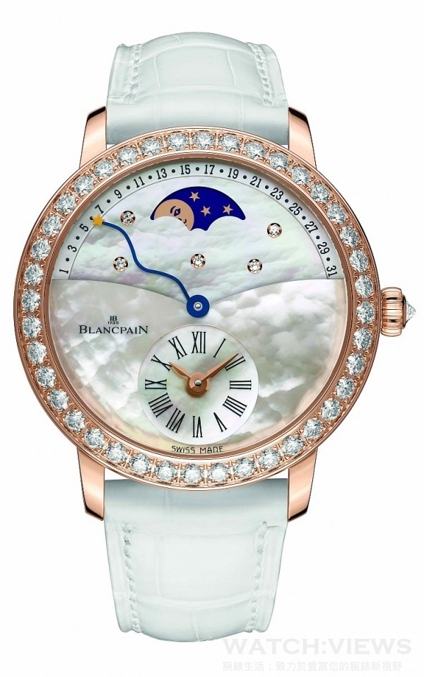 Blancpain 寶鉑Women系列Quantieme Retrograde女士逆跳日期腕表,建議售價NT$1,316,000。
