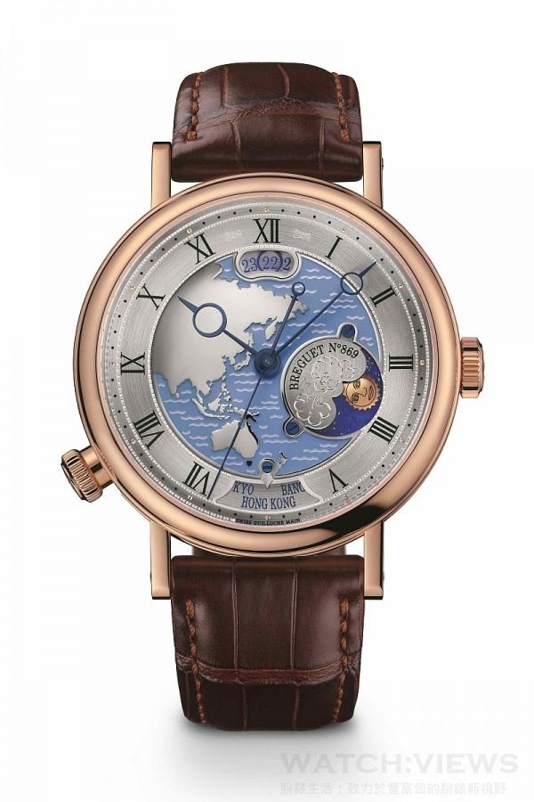 Breguet寶璣 Classique世界時區腕錶,建議售價NT$2,543,000。