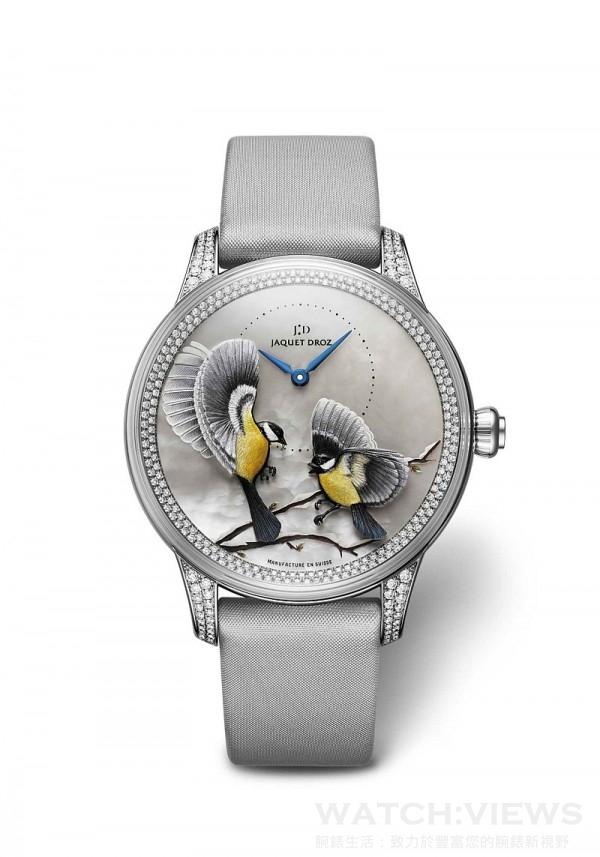 Jaquet Droz雅克德羅藝術工坊四季系列金雕腕錶,建議售價NT$2,434,000。