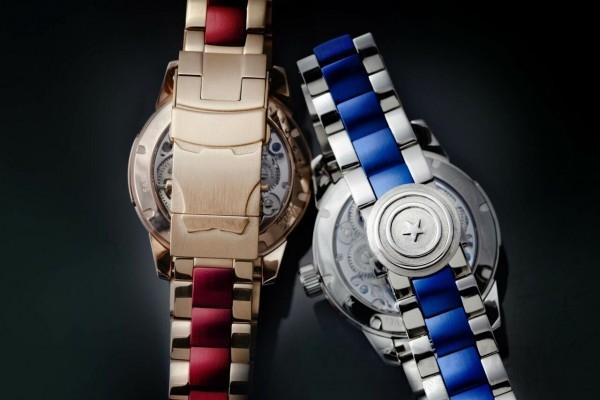 萬希泉Memorigin x Avengers2陀飛輪腕錶的錶扣也經過精心設計,分別是鋼鐵人的口部和美國隊長的盾牌。
