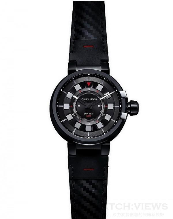 Tambour Evolution Spin Time GMT In Black,歐元建議售價約15,100。