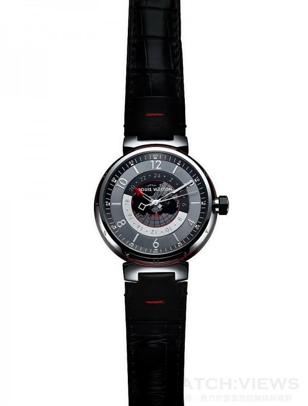 Tambour Graphite GMT, 歐元建議售價約3,600。