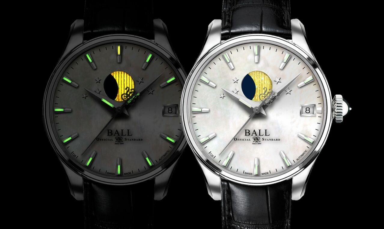 在朦朧夜中仍能綻放光芒的月亮:BALL Watch Trainmaster Moon Phase