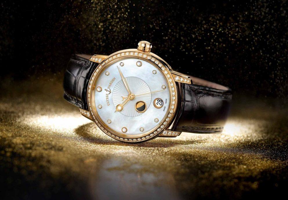 珍愛母親:ULYSSE NARDIN 雅典《鎏金沁月腕錶》Classico Lady Luna照亮大地的柔光