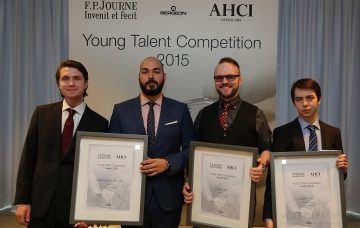 《AHCI Young Talent Competition》頒獎典禮:F.P. Journe與AHCI攜手支持年輕一代製錶天才