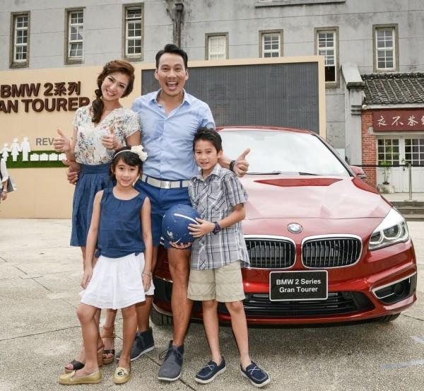 全新BMW 2系列Gran Tourer與活動佳賓艾力克斯以及李詠嫻一家人