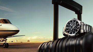 藍牙技術無線串聯手機APP,同步全球300城市時間:CASIO EDIFICE推出全金屬藍牙指針腕錶