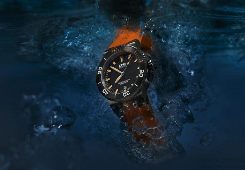 清晰可見的橘色光芒:ORIS Aquis Date Orange 中型潛水錶