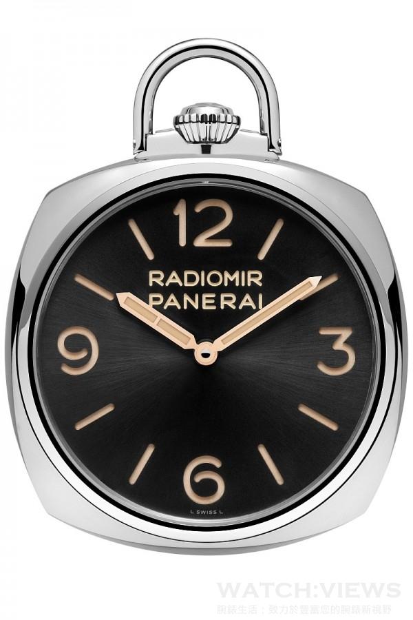 Panerai Pocket Watch 3 Days Oro Bianco PAM00529,18K白金錶殼,錶徑50毫米,時、分指示,背面動力儲存指示,P.3001/10手上鍊機芯,藍寶石水晶鏡面與可掀式後底蓋,防水50米,限量50只。