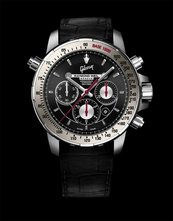 Nabucco音樂特別版腕錶,不鏽鋼與鈦合金錶殼,錶徑46毫米,灰色陶瓷錶圈,時、分、小秒針、日期、計時碼錶附測速儀,RW5010自動上鍊機芯,動力儲能46小時,防水200米,黑色橡膠鱷魚壓紋錶帶。