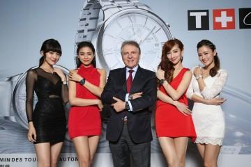 柔美氣質混搭創新腕錶:新一代女神演繹天梭表嶄新錶款,為2015巴賽爾錶款登台揭幕