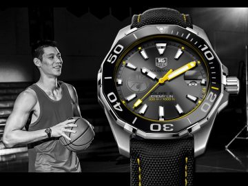 TAG HEUER Aquaracer競潛系列300米計時碼錶林書豪特別版,6月將在台上市