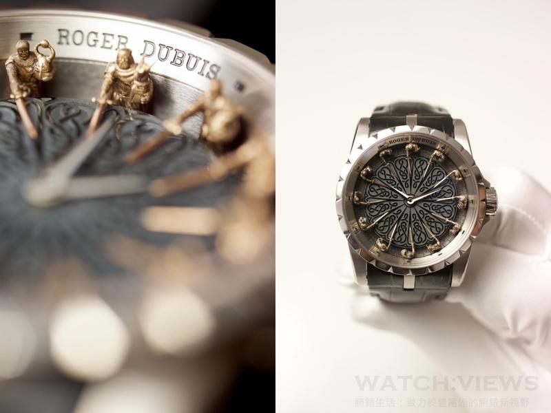 一個永恆傳奇的恢宏新詮釋:Roger Dubis Excalibur Knights of the Round Table 圓桌騎士腕錶2