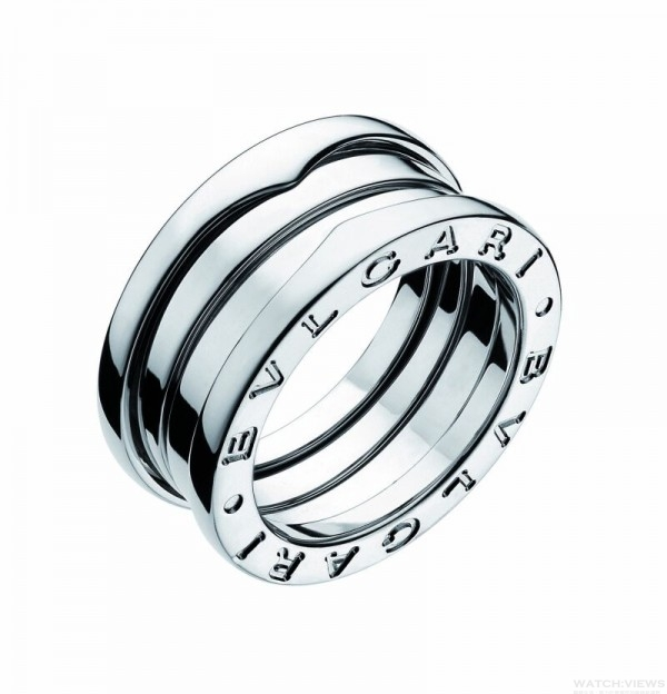 BVLGARI B.zero1 鉑金三環戒指,售價: NT$65,000