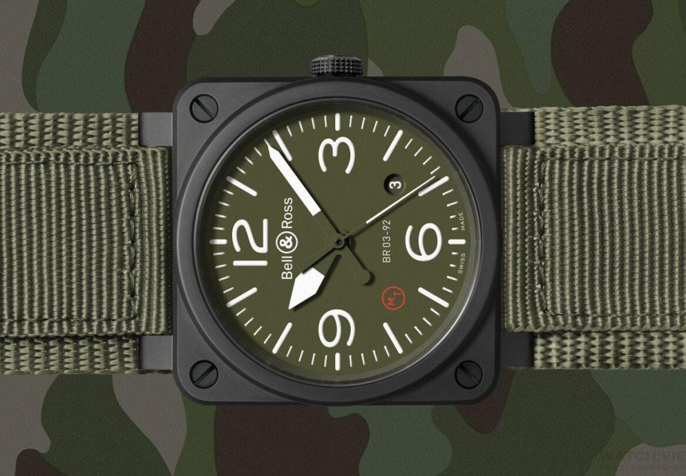 純正的軍用航空腕錶:Bell & Ross BR03-92 Ceramic Military Type
