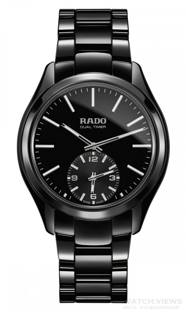 雷達表皓星系列黑色高科技陶瓷觸控雙時區腕錶,建議售價NTD 91,400。