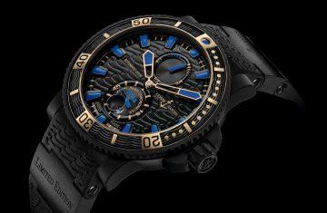 陸海雙棲,時髦紳士的潛水配備:ULYSSE NARDIN瑞士雅典錶 全新《Black Sea》潛水腕錶