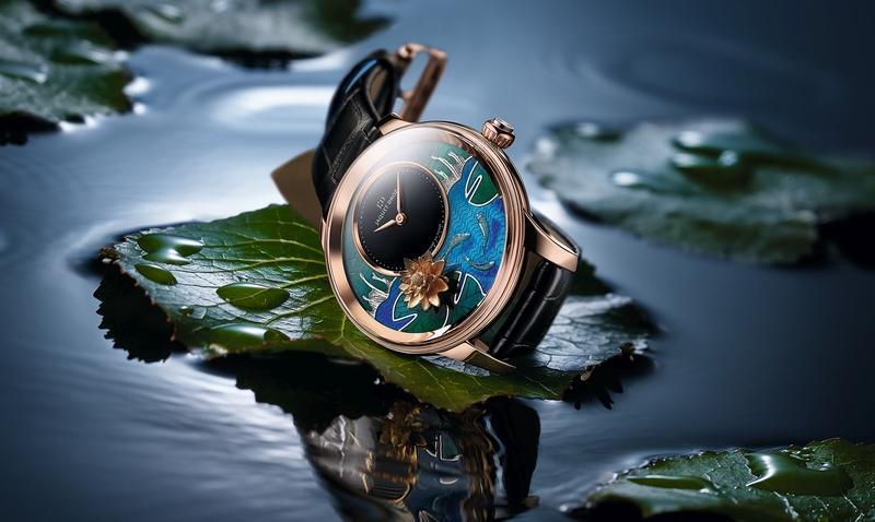蓮池錦鯉靜謐舒雅:雅克德羅發表Petite Heure Minute Relief Carps腕錶