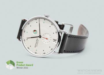 NOMOS Metro腕錶獲得2015 Green Product Award,肯定其創新設計與永續製程