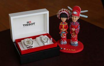 全球形象大使黃曉明情定Angelababy,天梭表獻上Chemin des Tourelles杜艾爾系列80小時自動對錶祝禮