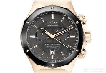 摩登感十足的黑金搭配:Edox Delfin 海王子腕錶黑金版引領風騷