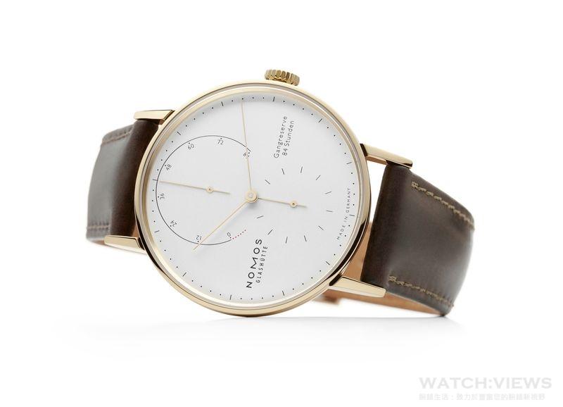 NOMOS推出Lambda 39毫米金質腕錶 工藝再升級