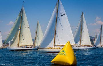 2015年沛納海古典帆船挑戰賽熱烈進行中,Luminor 1950 Regatta 3 Days Chrono Flyback Titanio 3 日動力儲存飛返計時鈦金屬計時腕錶搖旗助陣