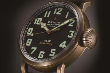 原創復古風格演繹Zenith始於航空時代的傲人成就:全新Pilot Type 20 Extra Special青銅腕錶