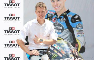 2014世界摩托車錦標賽系列中Moto2冠軍Tito Rabat受邀擔任天梭表全球形象大使