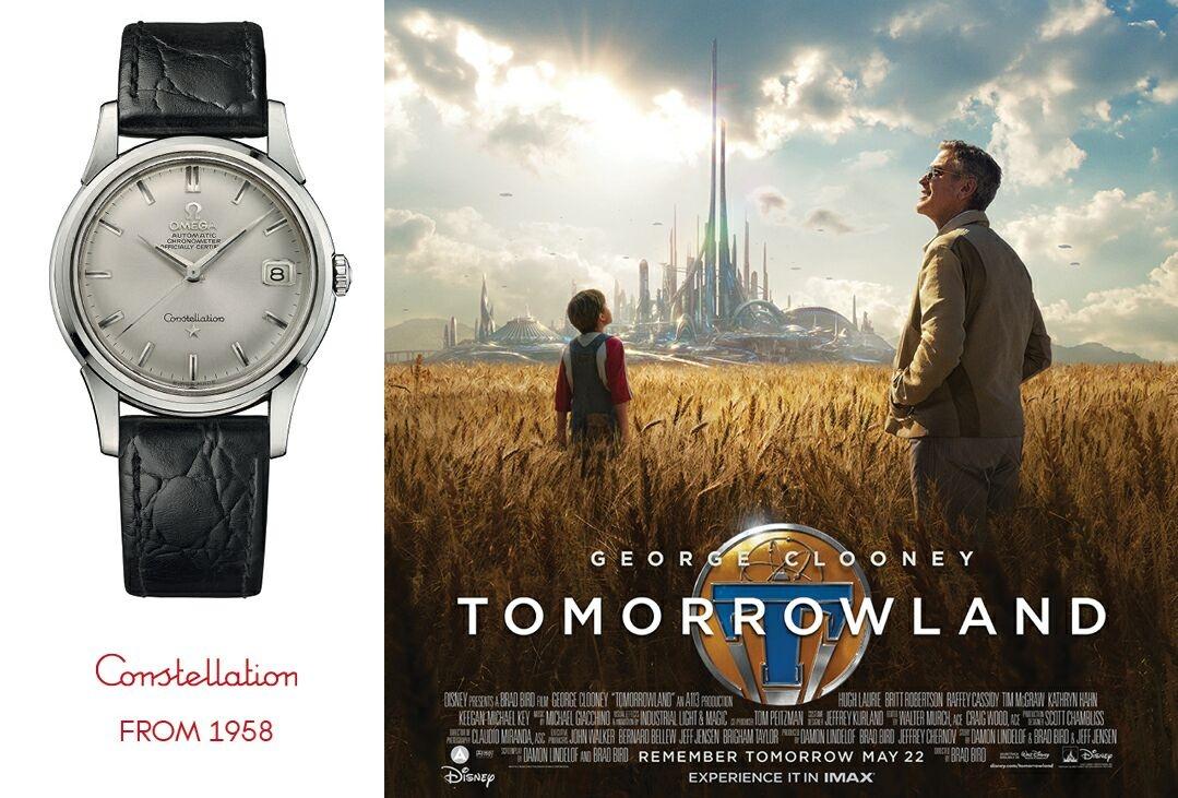 喬治·克隆尼在《明日世界》電影中完美詮釋歐米茄復古風格