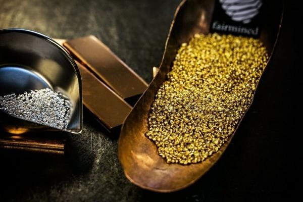符合「公平採礦」認證標準的黃金、銀與銅金屬。