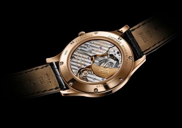 蕭邦L.U.C XPS Fairmined腕錶搭載L.U.C Calibre 96.12-L自動上鏈機芯,動力儲存65小時,雙發條盒 - 專利Twin®技術,錶橋飾以日內瓦波紋,COSC天文台認證。