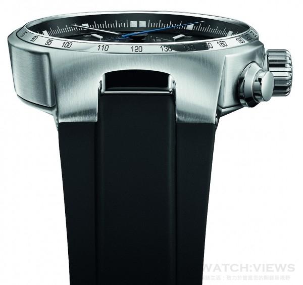 Oris Williams系列的錶殼設計,如汽車的輪廓逐漸縮窄,與錶耳流線一體成行類似車形的鼻錐。