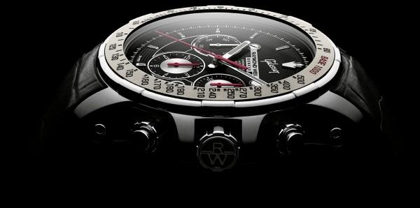 令人震撼的黑色錶盤嵌入其中,環繞錶盤的六根槽線象徵著Gibson SG Standard的琴弦,在12點鐘位置突出顯示Gibson標識和標誌性徽標。精緻的灰色陶瓷轉速錶圈更彰顯錶殼的完美。