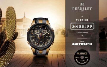 Perrelet伯特萊為「Only Watch」共襄盛舉之作:Turbine Sherif腕錶