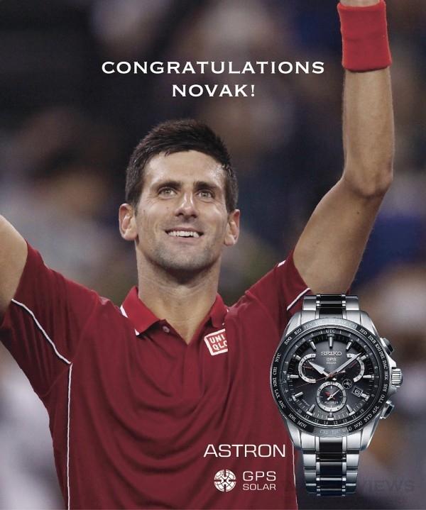 甫於美網摘金的Astron代言人Novak Djokovic喬科維奇,本身就是SEIKO Astron GPS衛星定位太陽能腕錶愛用者,平時就常將Astron GPS太陽能衛星定位錶做為征戰全世界的幸運物,對於這次所推出Astron 新一代腕錶8X系列大為讚賞。