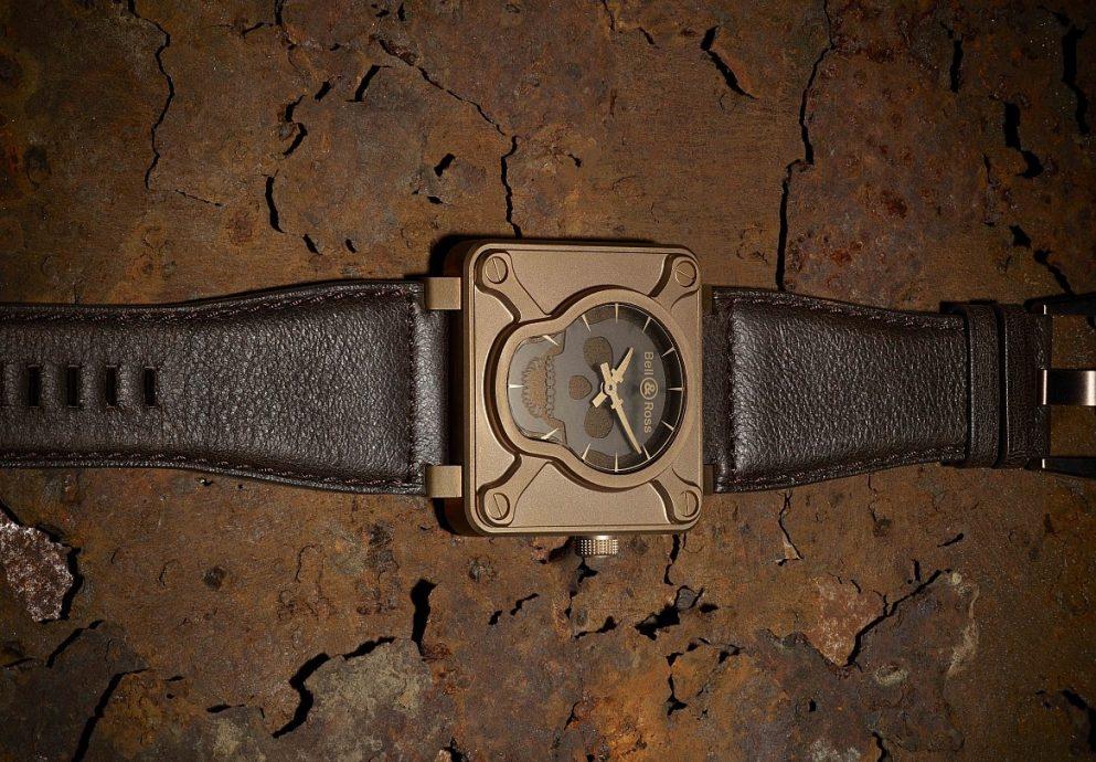護身符腕錶:Bell & Ross BR01 Skull Bronze