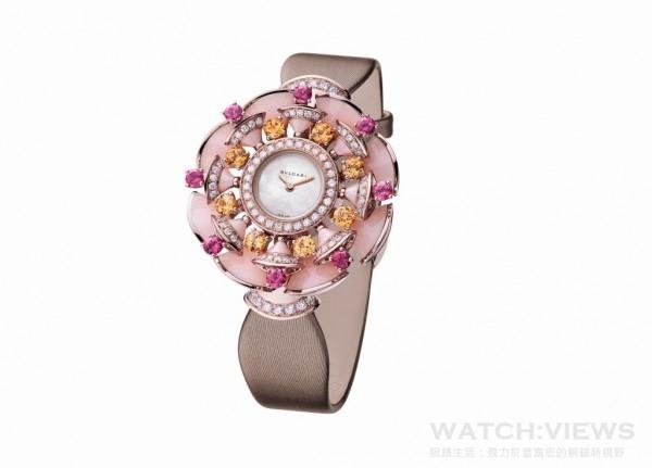 DIVA 玫瑰金彩寶鑲鑽手錶,NT$ 1,947,000。