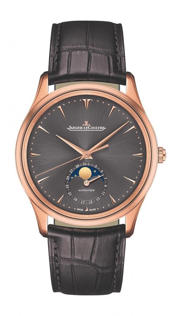 積家Master Ultra Thin Moon 超薄大師系列月相腕錶,Q136255J,建議售價NT$555,000。