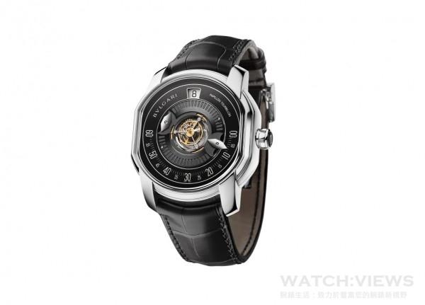 102347 BVLGARI 蝴蝶中置陀飛輪腕錶,約NT$ 4,509,000。