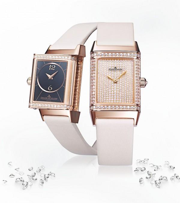 積家Reverso Duetto Classic女裝翻轉腕錶,Q2562407,建議售價NT$1,500,000。
