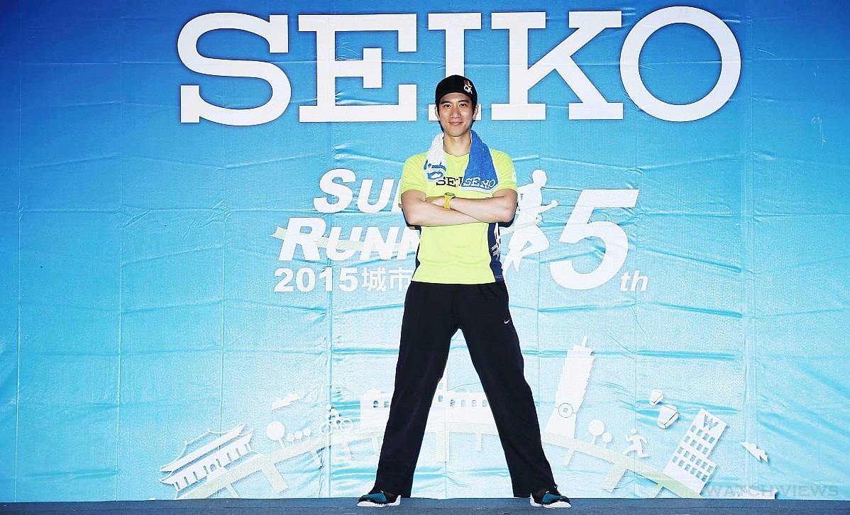 SEIKO城市路跑賽五周年,代言人王力宏現身力挺並首當Super Runner領航員