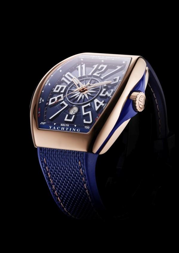 Yachting系列玫瑰金腕錶,約NTD 720,000。