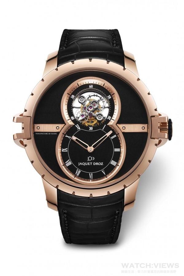 Jaquet Droz Tourbillon陀飛輪SW運動型腕錶,建議售價NTD3,597,000。