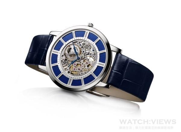 積家Master Ultra Thin Squelette 超薄大師系列鏤空腕錶(18K白金款),Q13435SQ,建議售價NT$1,950,000。