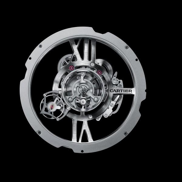 Rotonde de Cartier Astrotourbillon 天體運轉式陀飛輪鏤空腕錶搭載的9461MC 手上鍊機芯。