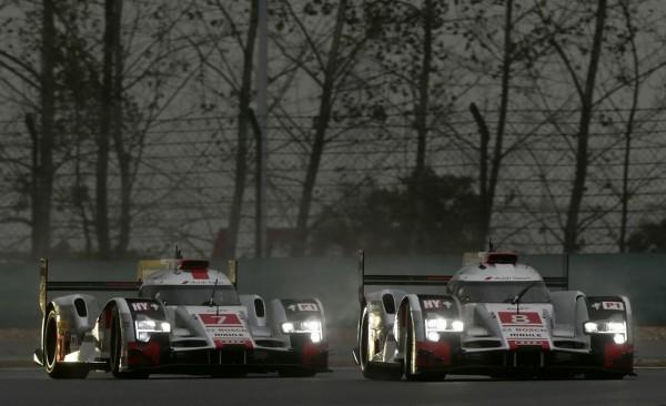 Audi日前再度以戰功彪炳的Audi R18 e-tron quattro在賽道狀況不佳的大雨中贏得2015年FIA世界耐力錦標賽上海站的第三、第四名佳績,展現四環科技的競速靈魂。