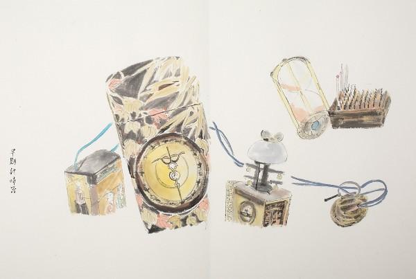 水墨藝術家何信旺手繪 SEIKO 早期計時器